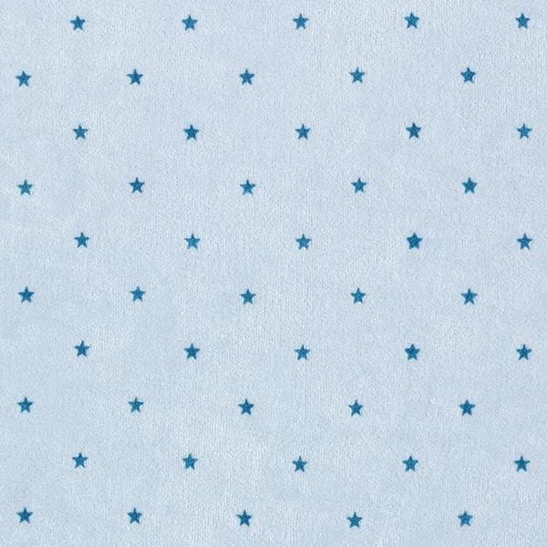 Tissu Nicki Petites étoiles – bleu bébé/bleu acier