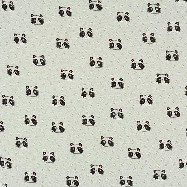 Jersey maille fine Motif à trous Pandas   by Poppy – vert pastel