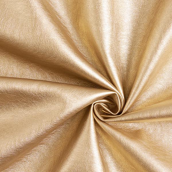 Kunstleder Metallik-Glanz – gold