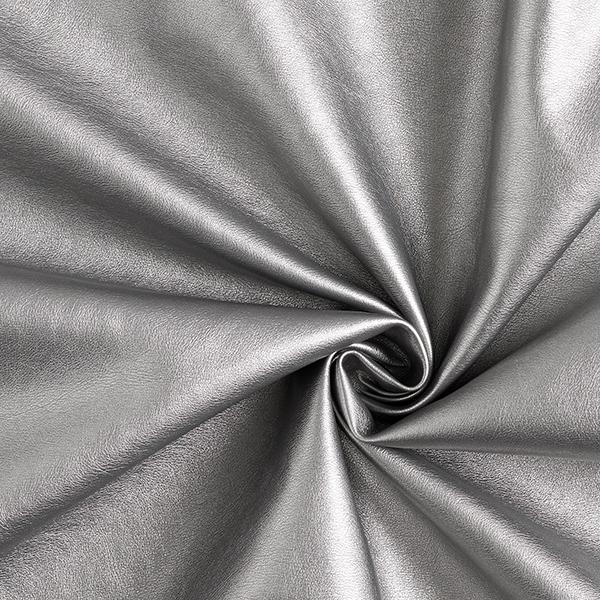 Kunstleder Metallik-Glanz – altsilber
