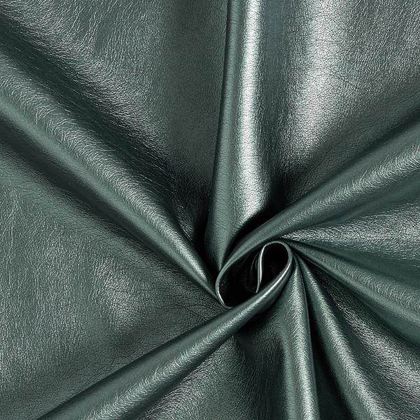 Kunstleder Metallik-Glanz – dunkelgrün