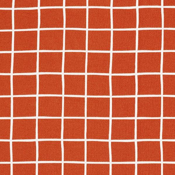 Kuschelsweat GOTS Gitter – terracotta/weiss