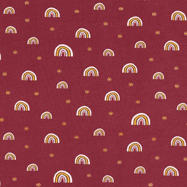 Sweat douillet GOTS Arc-en-ciel – rouge bordeaux/rosé