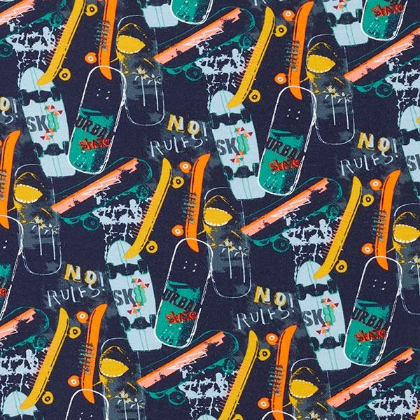 GOTS Sweatshirt angeraut Skateboards – marineblau