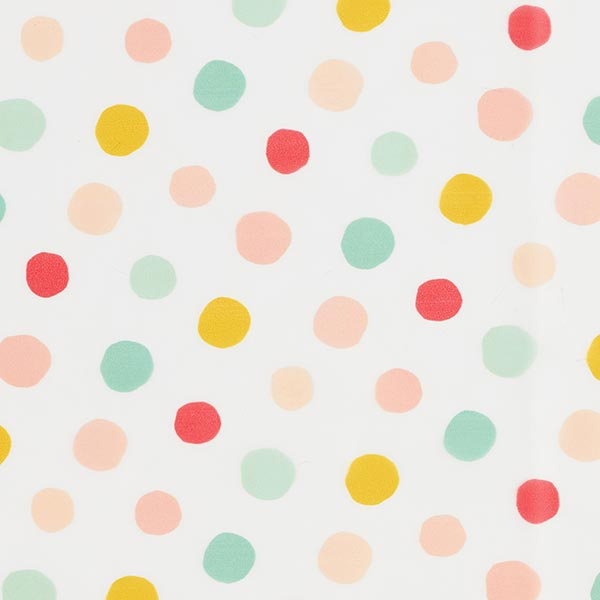 Regenjackenstoff bunte Punkte | by Poppy – transparent