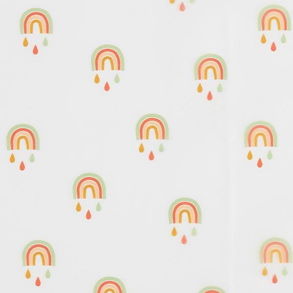 Tissu pour veste de pluie Arcs-en-ciel | by Poppy – transparent