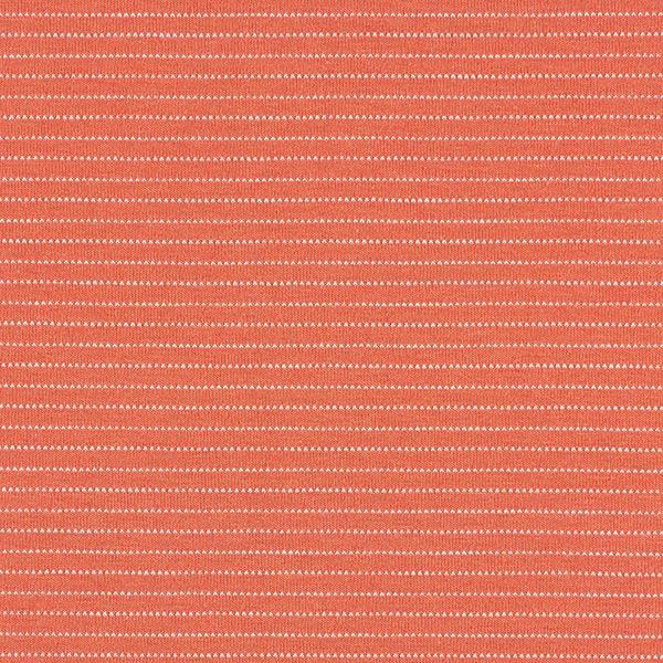 Jersey coton Rayures horizontales fines – terre cuite