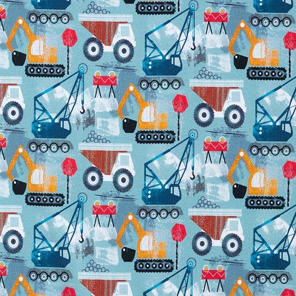 Jersey coton GOTS Chantier – gris bleu