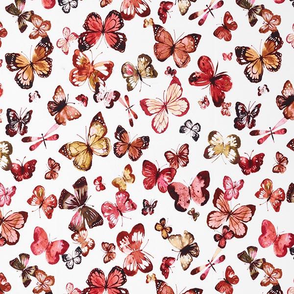 French Terry Sommersweat GOTS Schmetterlinge – weiss