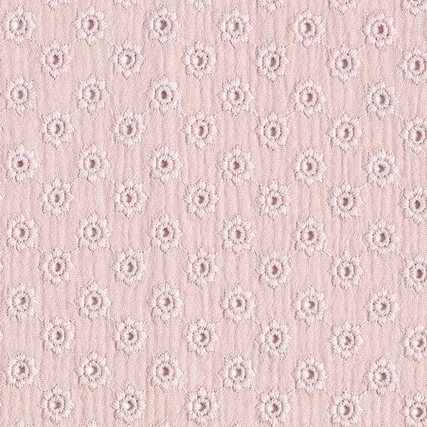 Musselin Lochstickerei kleine Blüten | by Poppy – rosa