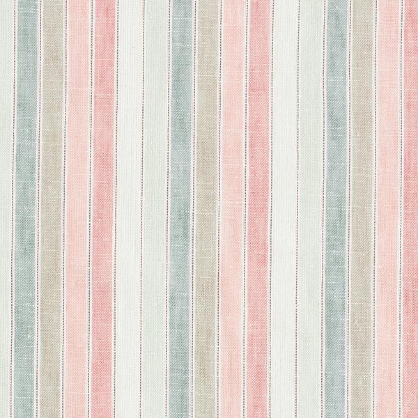 Mélange viscose lin Rayures Lurex – rose clair/vert pastel