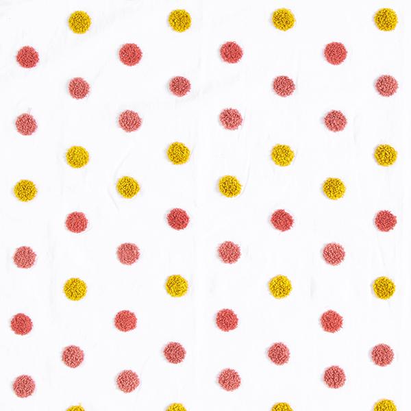 Tissu pour chemisier Coton Points douillets | by Poppy – blanc