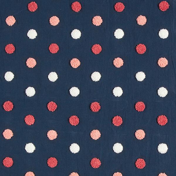 Tissu pour chemisier Coton Points douillets | by Poppy – navy
