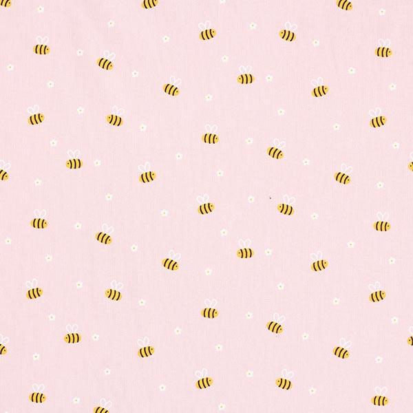Popeline coton Petites abeilles | by Poppy – rose