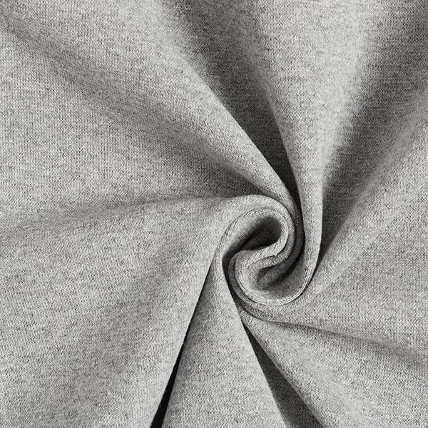 Bündchenstoff Melange – grau
