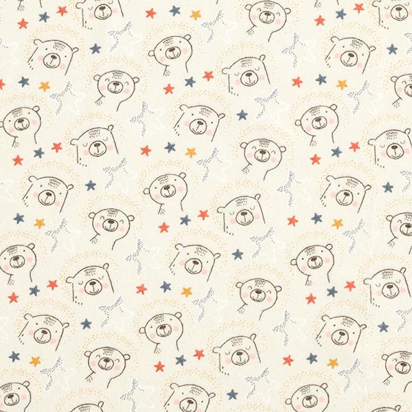 Flanelle coton Étoiles ours – sable