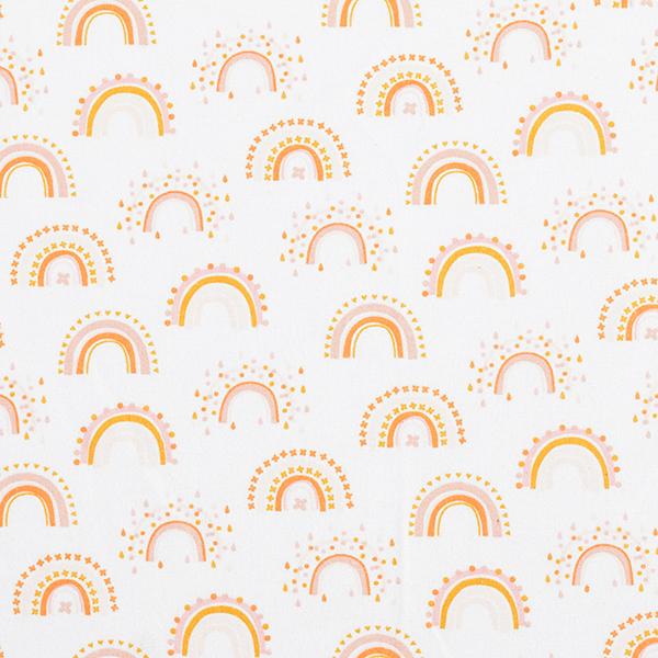 Flanelle coton Arc-en-ciel – écru