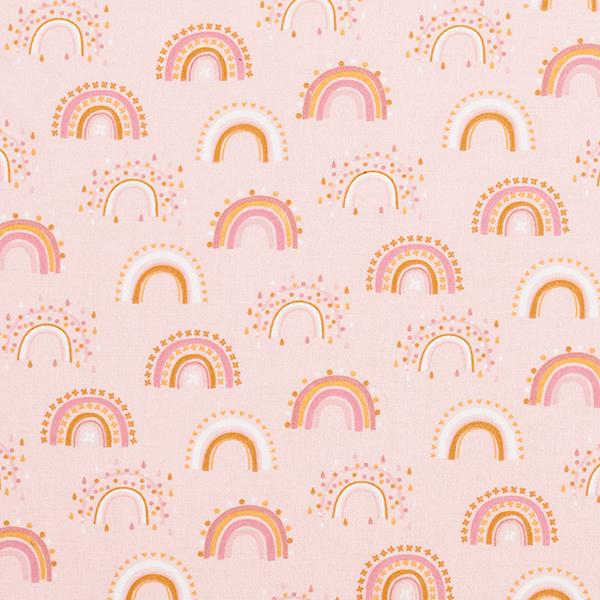 Flanelle coton Arc-en-ciel – rosé