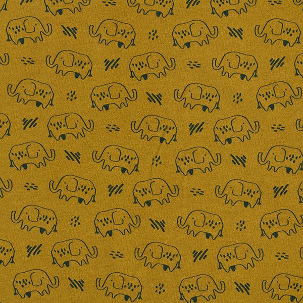 Kuschelsweat GOTS Elefanten – mittelbraun