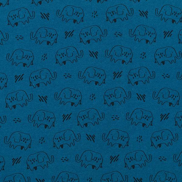 Kuschelsweat GOTS Elefanten | by Poppy – petrol