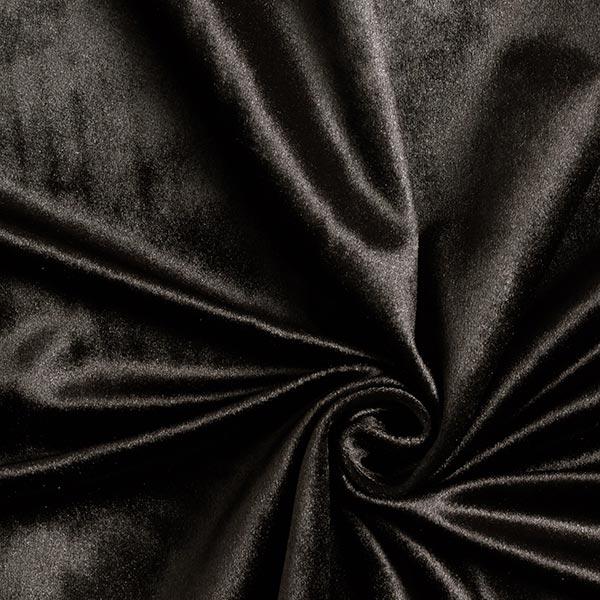 Tissu de décoration Velours – noir