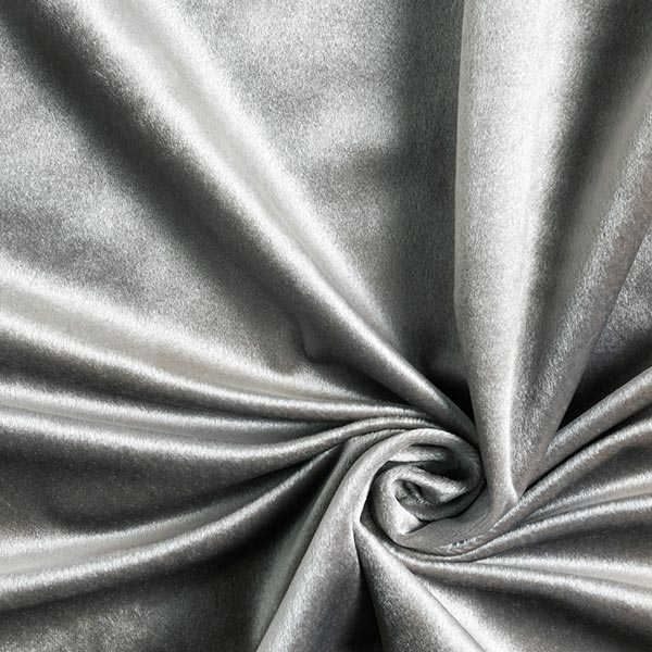 Dekostoff Samt – grau
