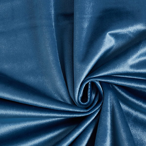 Tissu de décoration Velours – gris bleu
