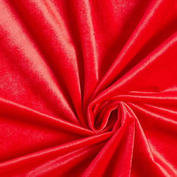 Tissu de décoration Velours – rouge vif
