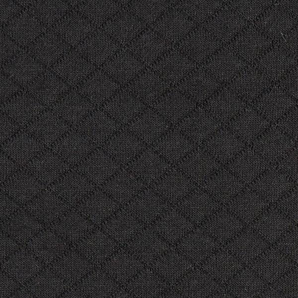 Jersey matelassé – noir