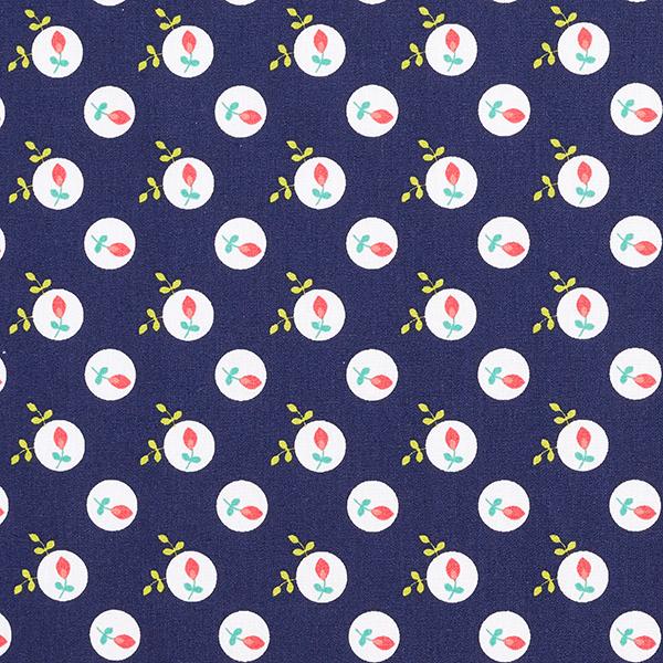 Popeline coton Églantier   by Poppy – bleu marine