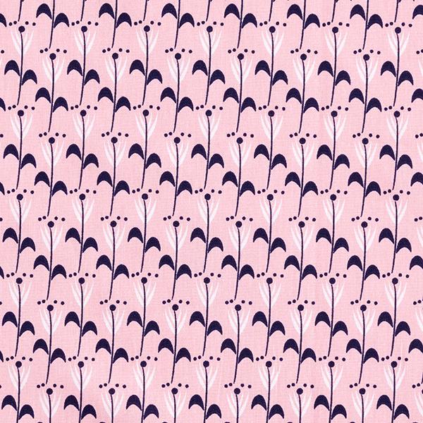 Popeline coton Tulipes – rose