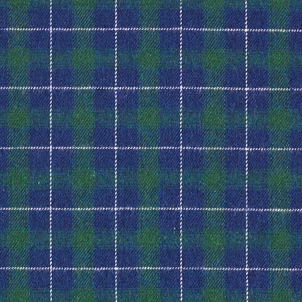Flanelle coton Tartan – vert foncé/bleu marine