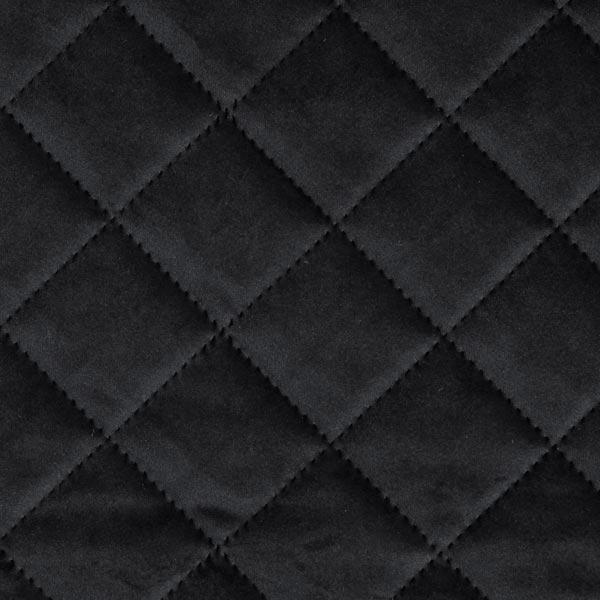 Möbel- und Polsterstoff Samt Steppstoff – schwarz