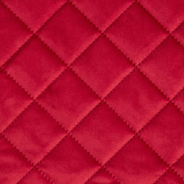 Möbel- und Polsterstoff Samt Steppstoff – karminrot
