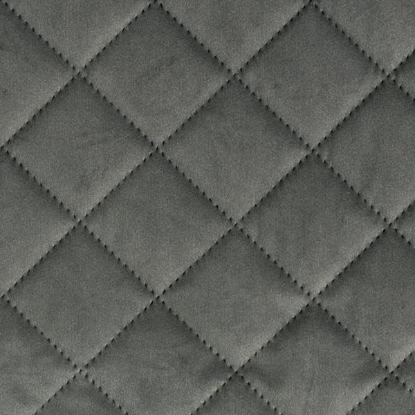 Möbel- und Polsterstoff Samt Steppstoff – dunkelgrau