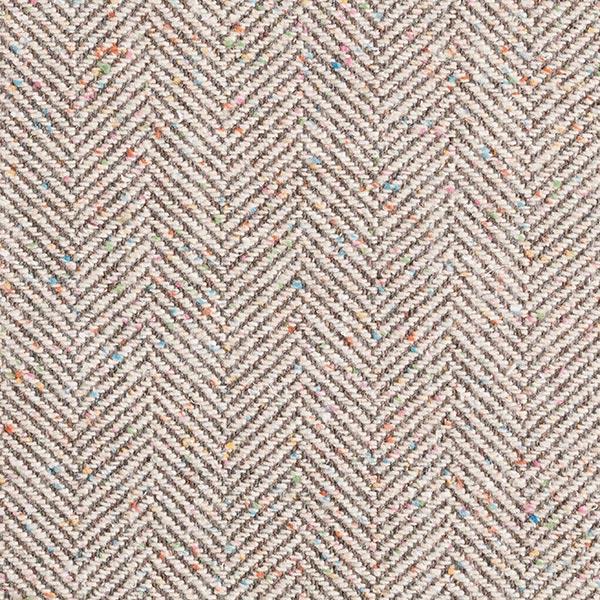 Tissu pour manteau Mélange laine vierge et mohair Tweed arêtes de poisson – écru/gris