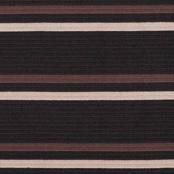 Maille côtelée Mélange laine vierge Rayures en diagonale – marron foncé/noir