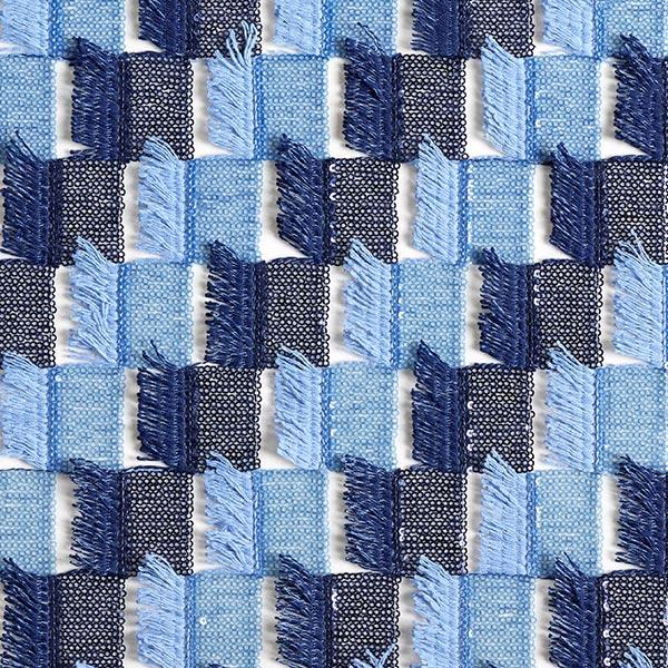 Tulle paillettes & franges – bleu