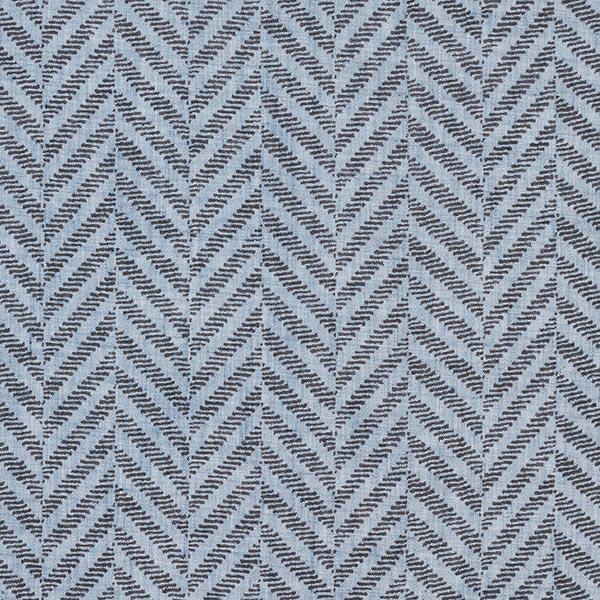 Voile Fischgrad-Optik – jeansblau