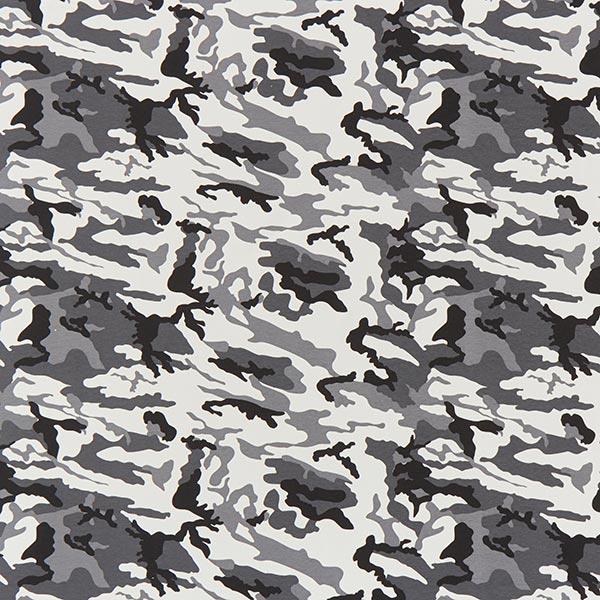 French Terry Sweat d'été Camouflage petit – noir/gris