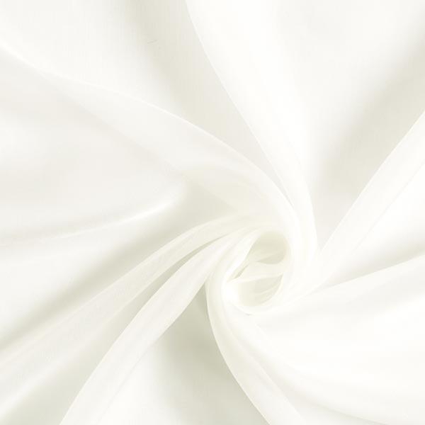 Mousseline de soie très vaporeuse unie – blanc