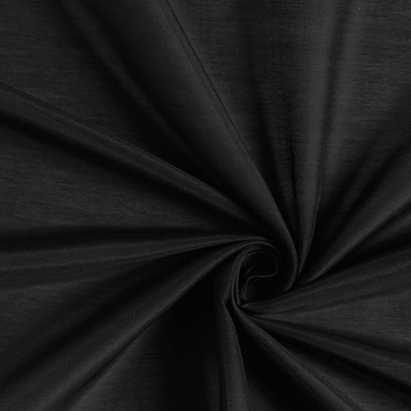 Superleichtes Baumwoll-Seidengewebe Voile – schwarz