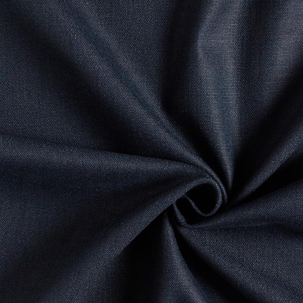 Tissu en lin stretch Mélange – bleu marine