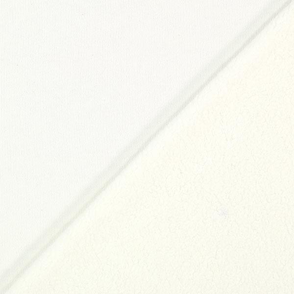 100% Baumwollfleece – wollweiss
