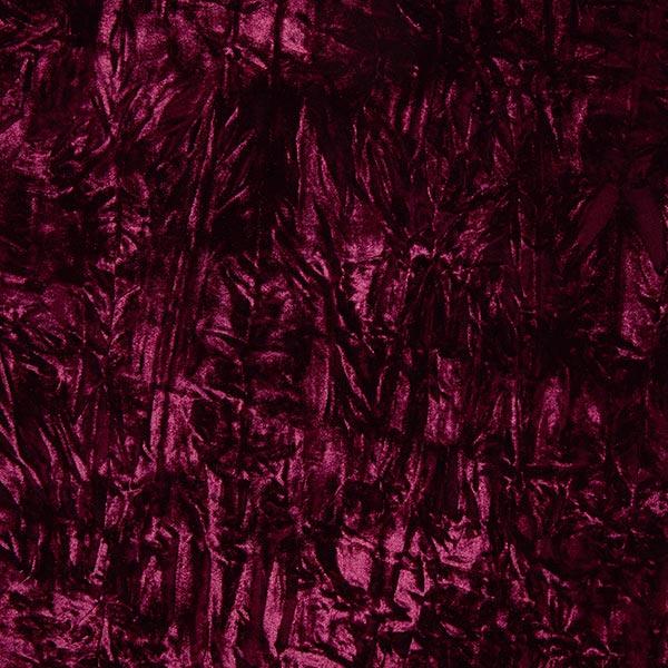 Velours froissé – rouge bordeaux