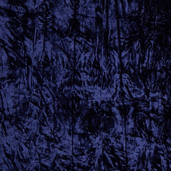 Crashed Samt – marineblau