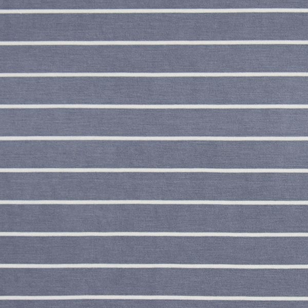 Jersey single Modal Rayures – gris