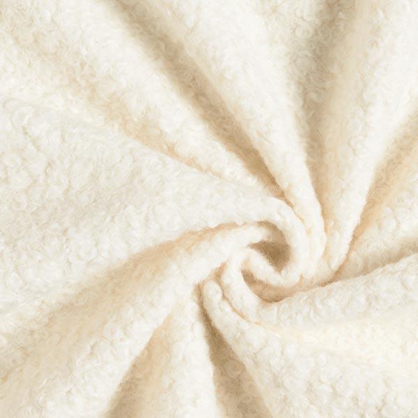 Tissu tricoté boucles – écru