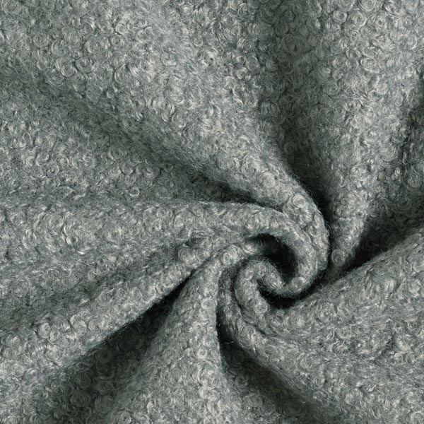 Tissu tricoté boucles – gris foncé