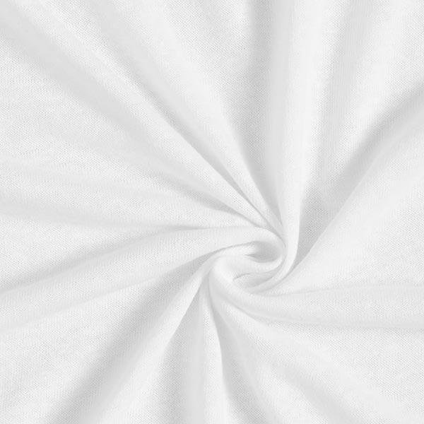 Jersey mélange lin-viscose uni – blanc